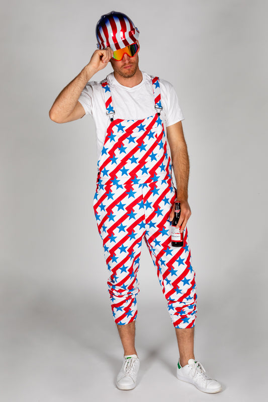 America themed pajamaralls