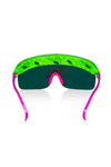 The Geckos | Neon Green Retro Visor Sunglasses