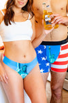 The Lady Liberties | American Flag Seamless Thong