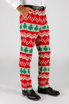 The Red Ryder | Knit Print Christmas Suit Pants