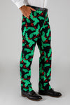 The Deck Yourselves | Mens Holly Print Christmas Pants