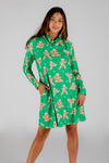 The Ninja Bread | Green Gingerbread Man Turtleneck Dress