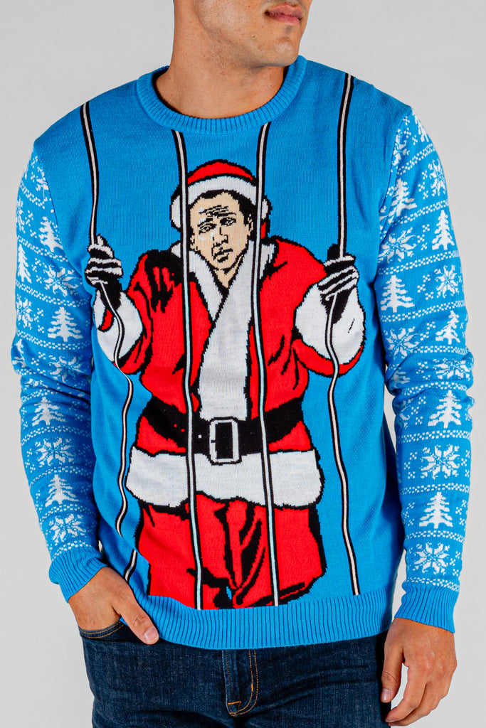 The Saint Nicolas | Caged Men's Christmas Sweater