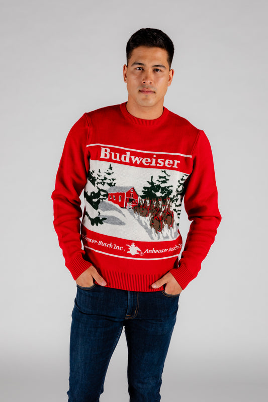the classic budweiser sweater