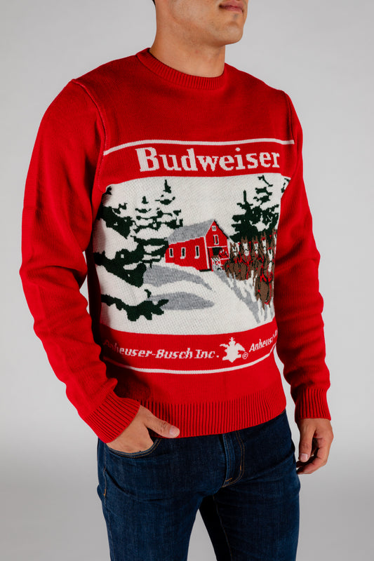 budweiser clydesdale sweater