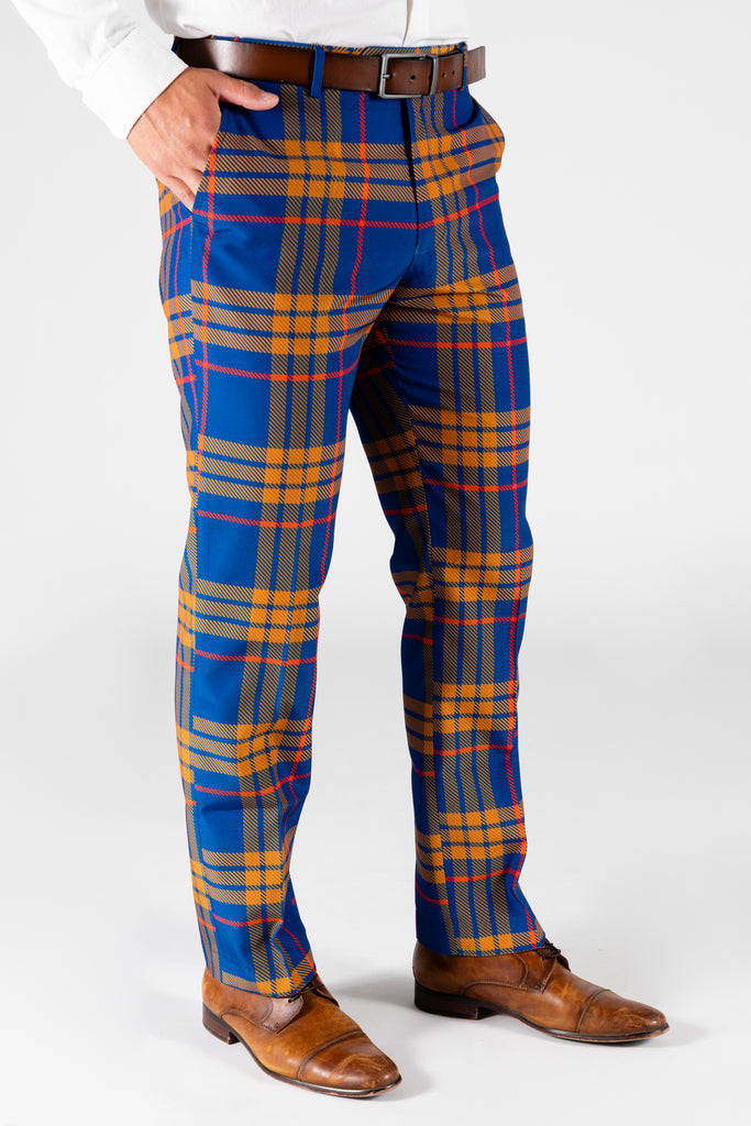 The Pipe Tobacco | Blue Plaid Suit Pants