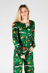 The Christmas Tree Camo | Women's Christmas Print Pajama Top