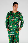 The Christmas Tree Camo | Men's Christmas Print Pajama Top