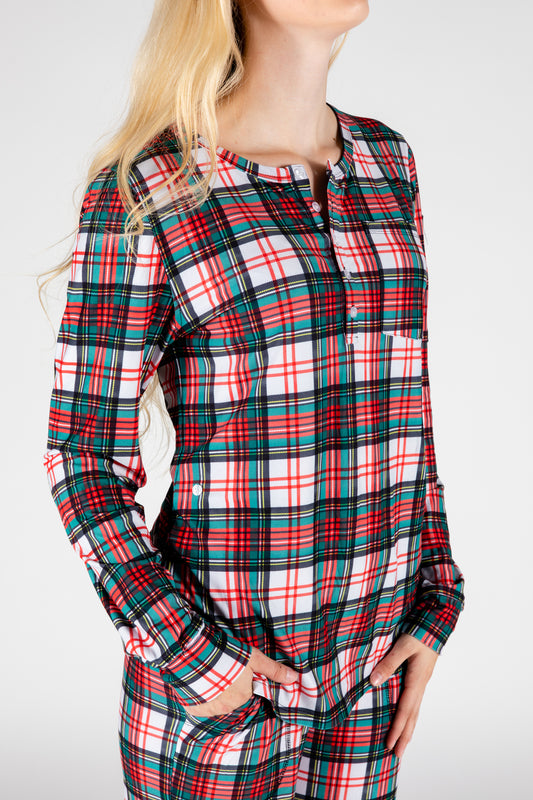 The Scotch On The Rocks | Womens Christmas Pajama Top