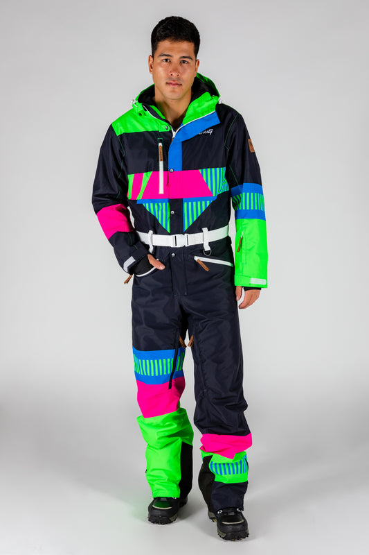 The Steep And Deep | Men's Retro Black Ski Suit | Pre-Order | Ships in December 2020