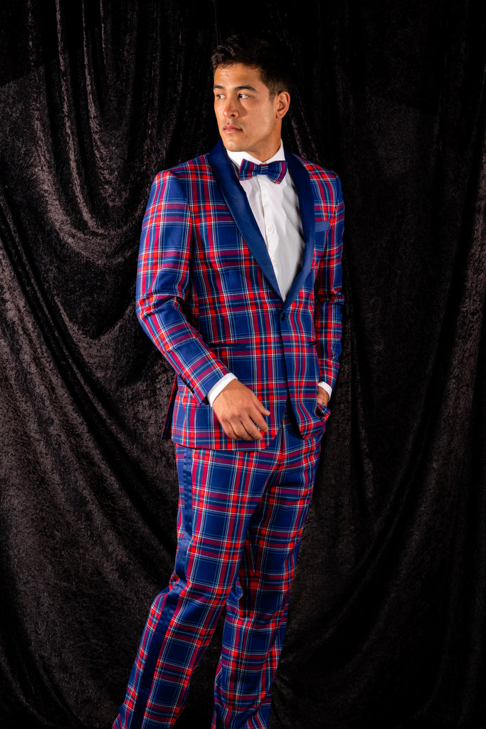 The Foyer Fornicator | Plaid Tuxedo With Stretch