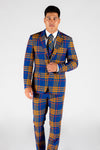 Blue Orange Plaid Blazer and Pants