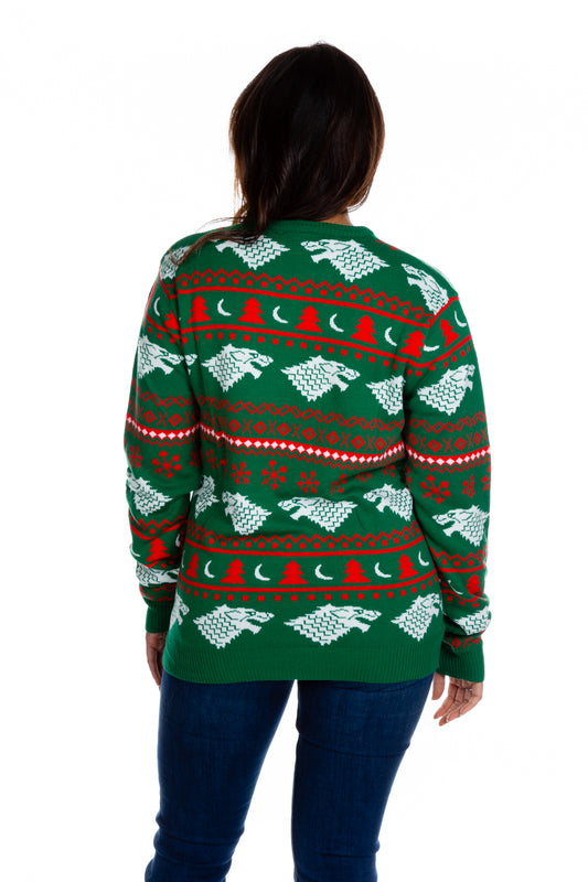 GOT Pattern Green and Red Holiday Sweater