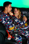 The Caribou Lous | Womens Navy Mating Deer Fairisle Christmas Pajama Bottom