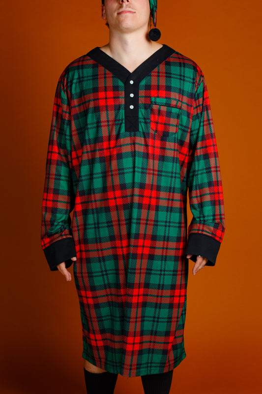 Men's Scrooge plaid pjs