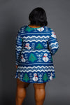 long sleeve christmas dress