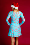 light blue holiday party dress