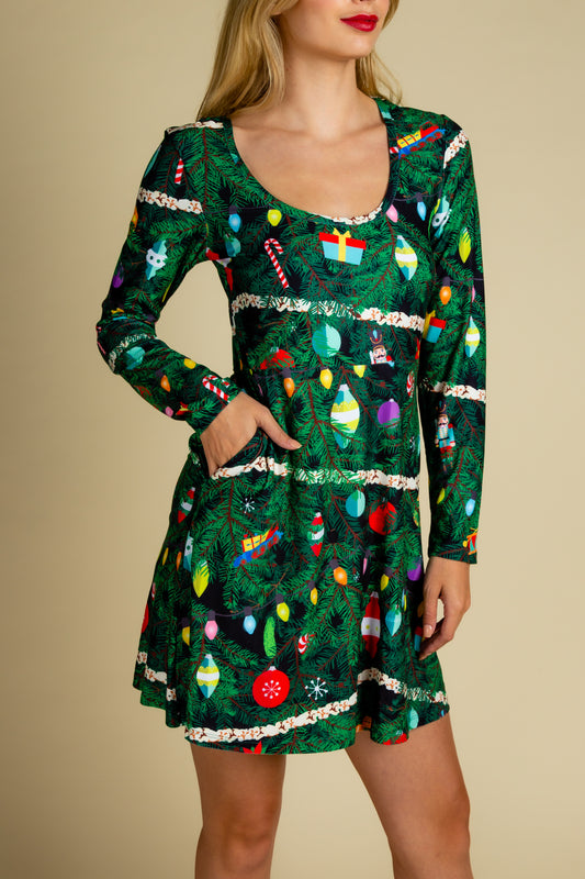 womens christmas camouflage skater dress