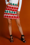 Red ryder christmas print women's skirt