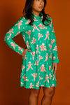 The ninja bread men green turtleneck dress
