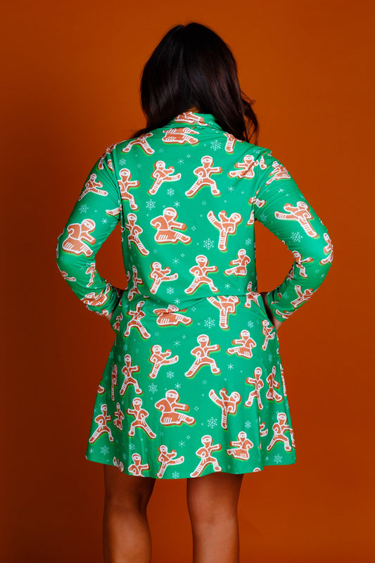 Ladies Ginger bread turtleneck dress