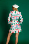 women's christmas pattern wrap dress