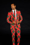 Men's Christmas Blazer in Red and Green Plaid