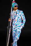 The Yard Sale Ski Print Men's Blazer