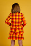 Orange plaid thanksgiving suit jacket for women