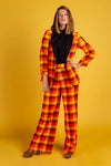 That 70s Suit | Womens Orange Plaid Thanksgiving Suit