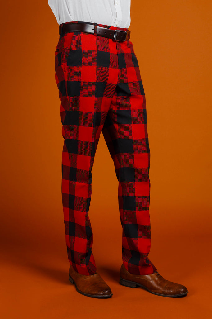 The Red & Black Lumberjack | Buffalo Check Plaid Suit Pants