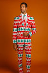 The Red Ryder | Knit Print Christmas Suit