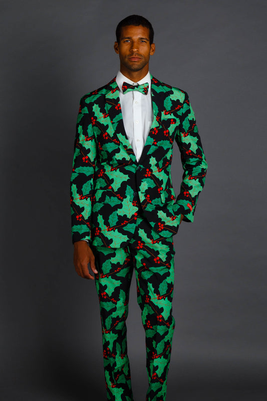 The Deck Yourselves | Holly Print Christmas Suit