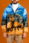 Animal Print Nature Print Fleece Sweater