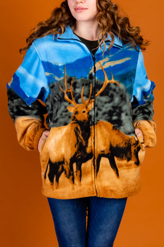 Women's Blue Nature Fleece