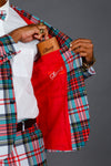 The Scotch on the Rocks | White Plaid Christmas Suit