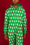 Santa claus men's Christmas onesie