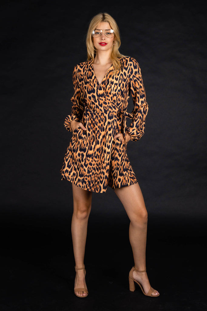The Fastest Finishers | Leopard Print Wrap Dress