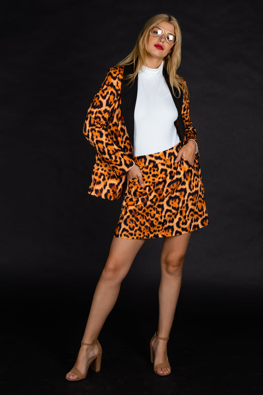 The Fastest Finishers | Womens Leopard Print Skirt