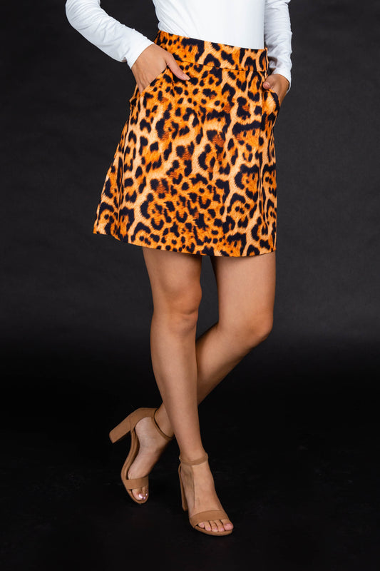 Womens Leopard Print Skirt
