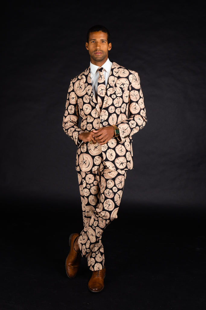 The Xmas Morning Wood | Wood Print Christmas Suit