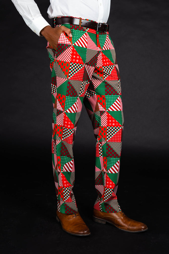 The Bonus Room Quickie | Quilted Print Christmas Suit Pants