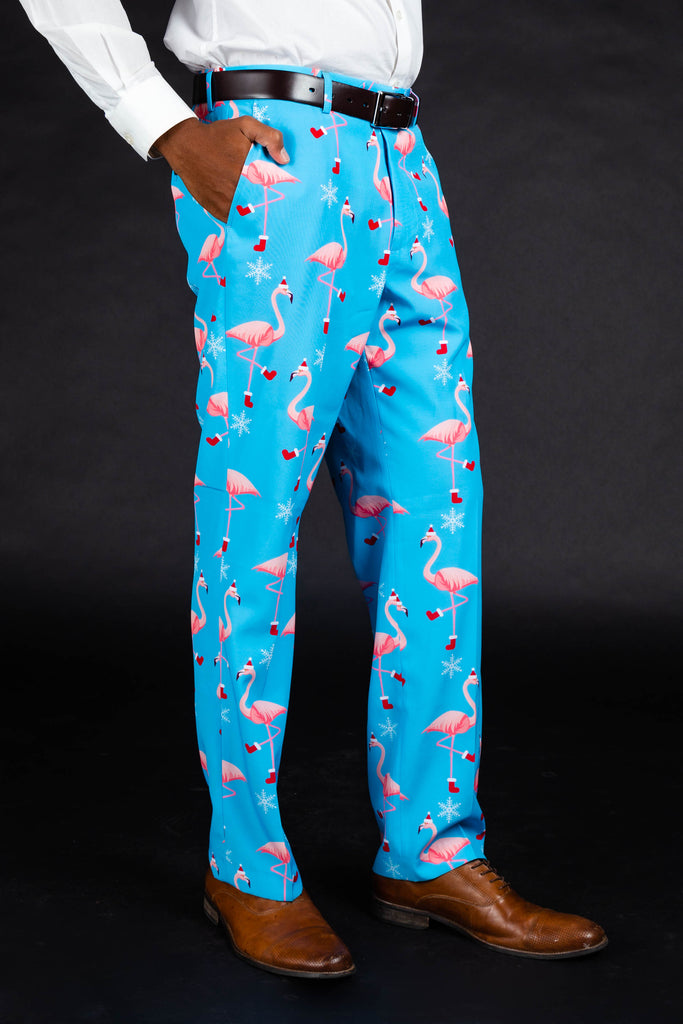 The Swingers Soiree | Christmas Flamingo Suit Pants
