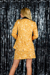 Gold dust printed ladies suit