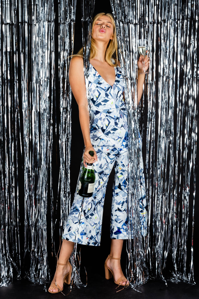 Harder Than A Diamond | Diamond Pattern NYE Jumpsuit