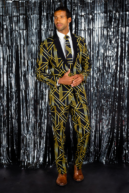 Art deco NYE suit