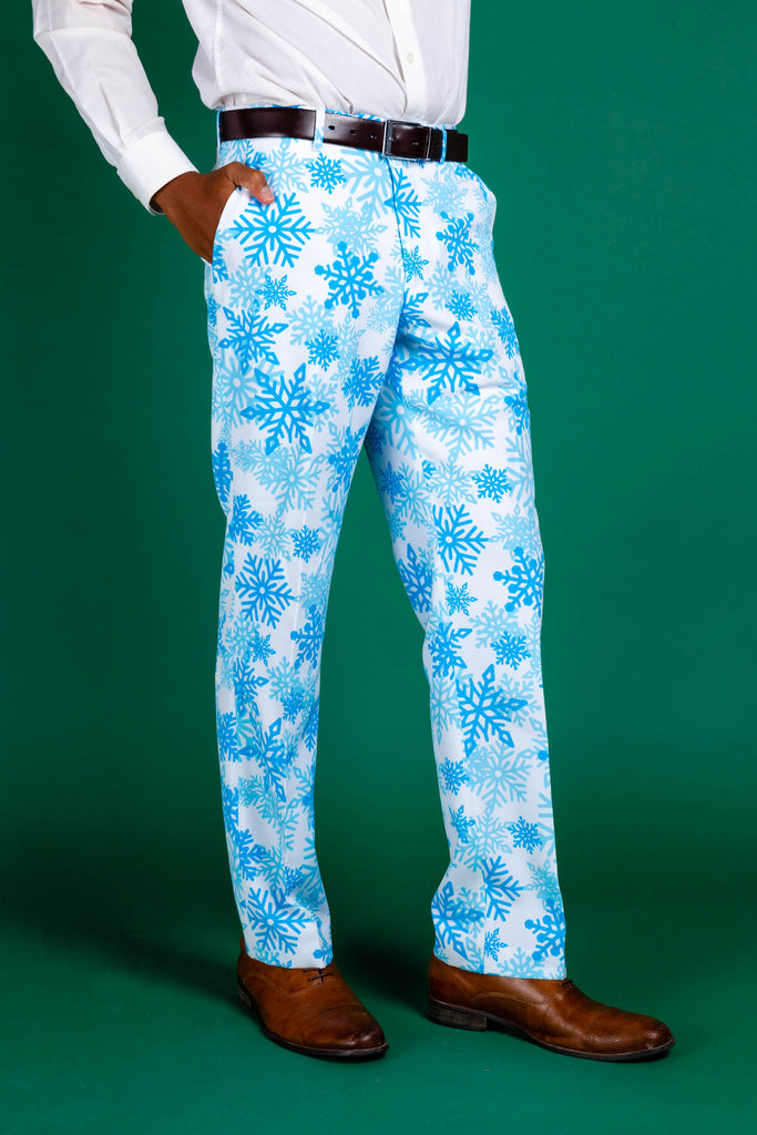The Millennial Snowflake | White Snowflake Lined Pants