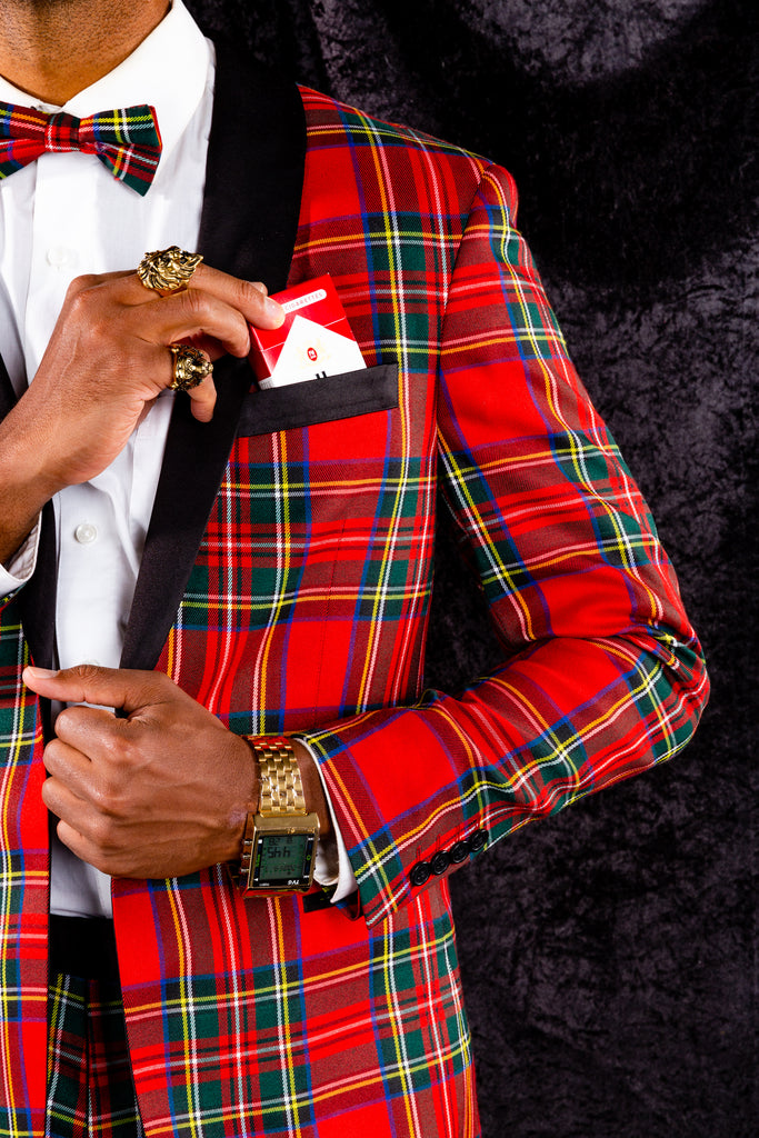 The Rockefeller | Tartan Plaid Tuxedo Suit Jacket