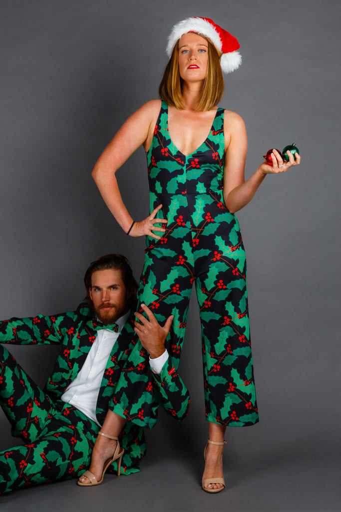The Deck Yourself Before Your Wreck Yourself | Mistletoe Christmas Jumpsuit