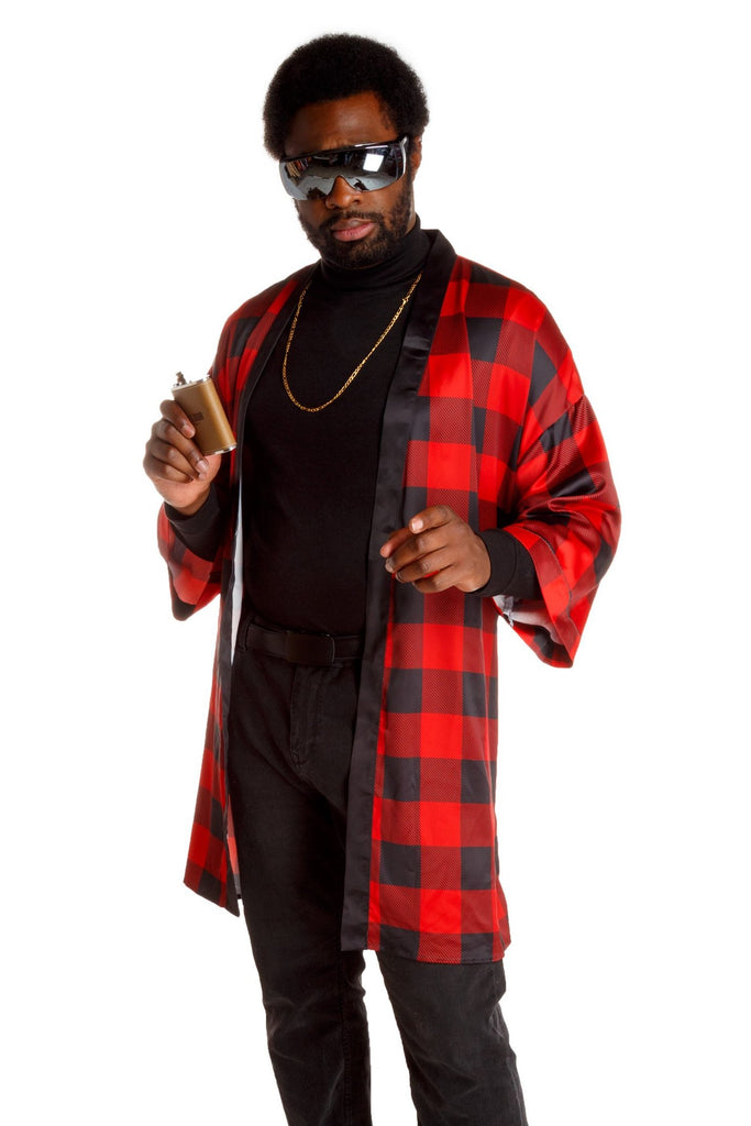 The Red & Black Lumberjack | Buffalo Check Kimono